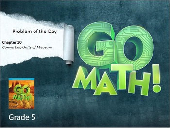 Go Math Grade 5 Problem of the Day Powerpoint Bundle: Chapters 1-11
