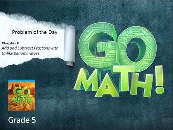 Go Math Grade 5 Problem of the Day Powerpoint Bundle: Chap
