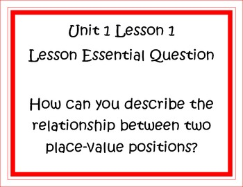 Go Math Grade 5 Unit 1 Essential Questions