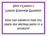 Go Math Grade 5 Unit 4 Essential Questions