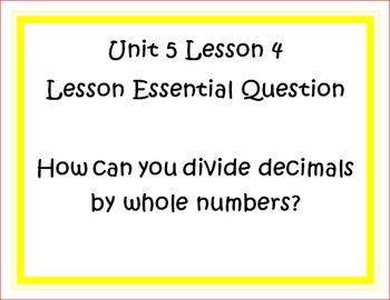 Go Math Grade 5 Unit 5 Essential Questions