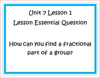 Go Math Grade 5 Unit 7 Essential Questions