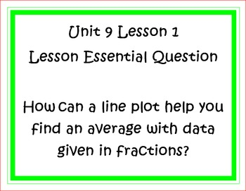 Go Math Grade 5 Unit 9 Essential Questions
