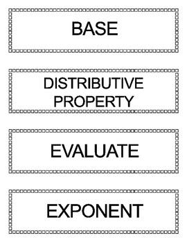 Go Math Grade 5 Vocabulary Words for Bulletin Board Unit 1