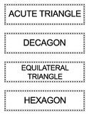 Go Math Grade 5 Vocabulary Words for Bulletin Board Unit 11