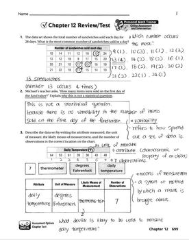 Go Math Grade 6 Chapter 12 Review/Test with Answers