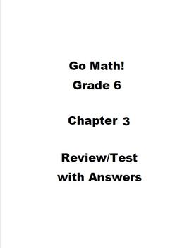 Grade 6 Unit 3 Review Math Worksheets & Teaching Resources   TpT