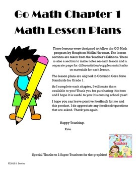 Go Math Grade One: Chapter 1 Lesson Plans