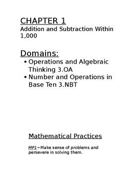 Go Math Grade Three Concept Board Chapter 1