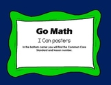 Go Math: I Can Posters