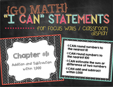 """Go Math """"I Can"""" Statements / Focus Wall Posters {3rd Grade}"""