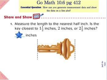 Go Math Interactive Mimio Lesson 10.6 Measure Length
