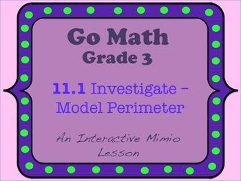 Go Math Interactive Mimio Lesson 11.2 Find Perimeter