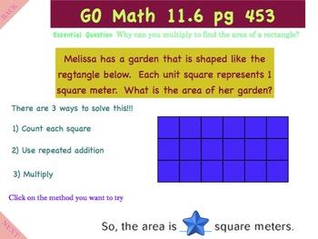 Go Math Interactive Mimio Lesson 11.6 Use Area Models