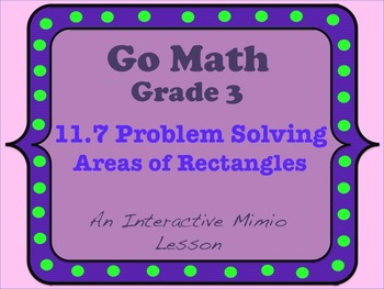 problem solving area of rectangles lesson 11.7