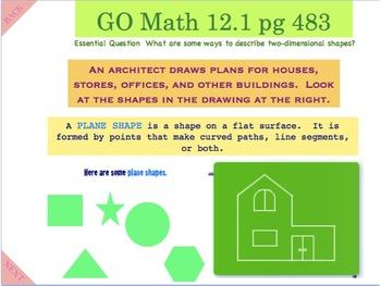 Go Math Interactive Mimio Lesson 12.1 Describe Plane Shapes