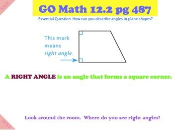 Go Math Interactive Mimio Lesson 12.2 Describe Angles in Plane Shapes