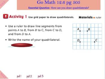 Go Math Interactive Mimio Lesson 12.6 Draw Quadrilaterals