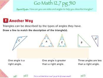 Go Math Interactive Mimio Lesson 12.7 Describe Triangles