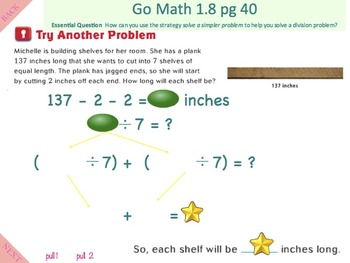Go Math Interactive Mimio Lesson 1.9 Problem Solving Multiplication and Division