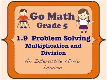 Go Math Interactive Mimio Lesson 1.9 Problem Solving Multi