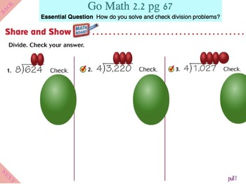 Go Math Interactive Mimio Lesson 2.2 Divide by 1-Digit Divisors