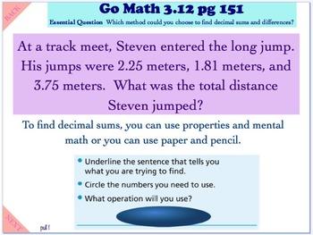 Go Math Interactive Mimio Lesson 3.12 Choose a Method