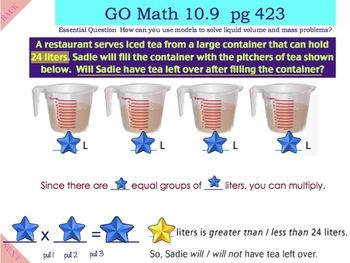 Go Math Interactive Mimio Lesson Chapter 10 Time, Length, Liquid Volume, & Mass