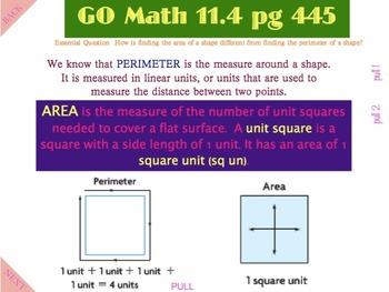 Go Math Interactive Mimio Lesson Chapter 11 Perimeter and Area