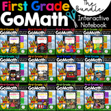 First Grade Math Interactive Notebook, The COMPLETE BUNDLE