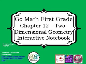 Go Math Interactive Notebook - Grade 1 Chapter 12