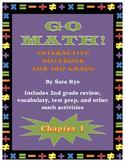 Go Math Interactive Notebook for 3rd Grade Chap. 1-Roundin