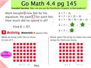 Go Math Interactive  Mimio Lesson 4.4 Algebra - Distributi