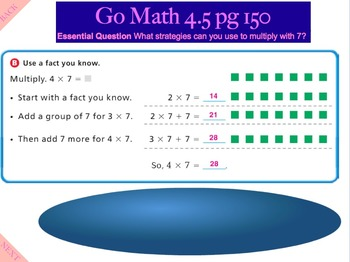Go Math Interactive Mimio Lesson 4.5 Multiply with 7