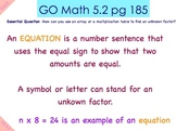 Go Math Interactive Mimio Lesson 5.2 Find Unknown Patterns