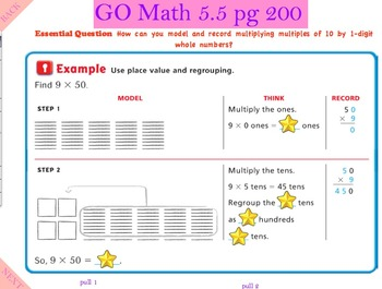 Go Math Interactive Mimio Lesson 5.5 Multply Multiples of 10