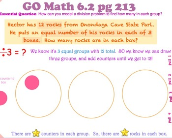 Go Math Interactive Mimio Lesson 6.2 Size of Equal Groups
