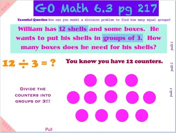 Go Math Interactive Mimio Lesson 6.3 Number of Equal Groups