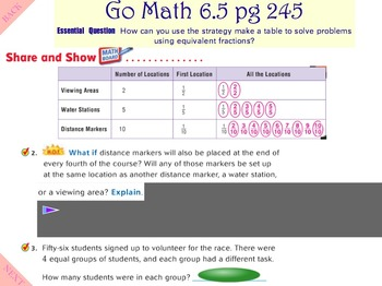 Go Math Interactive Mimio Lesson 6.5  Find Equivalent Fractions