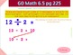 Go Math Interactive Mimio Lesson 6.5 Relate Subtraction an