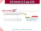 Go Math Interactive Mimio Lesson 6.5 Relate Subtraction an