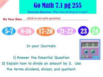 Go Math Interactive Mimio Lesson 7.1 Divide by 2