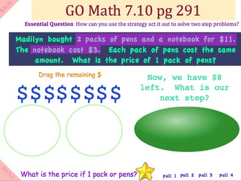 Go Math Interactive Mimio Lesson 7.10 Problem Solving Two-Step Problems
