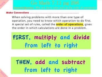 Go Math Interactive Mimio Lesson 7.11 Investigate - Order