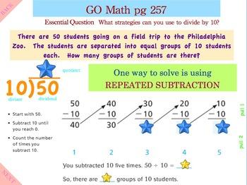 Go Math Interactive Mimio Lesson 7.2 Divide by 10