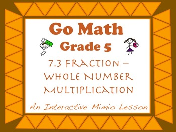 Go Math Interactive Mimio Lesson 7.3 Fraction-Whole Number