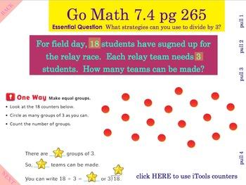 Go Math Interactive Mimio Lesson 7.4 Divide by 3