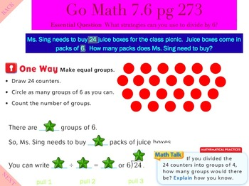 Go Math Interactive Mimio Lesson 7.6 Divide by 6
