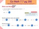 Go Math Interactive Mimio Lesson 7.7 Divide by 7