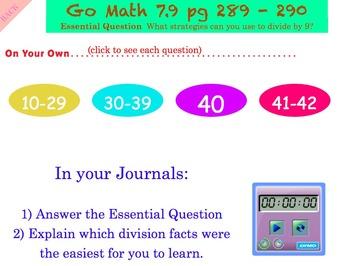 Go Math Interactive Mimio Lesson 7.9 Divide by 9